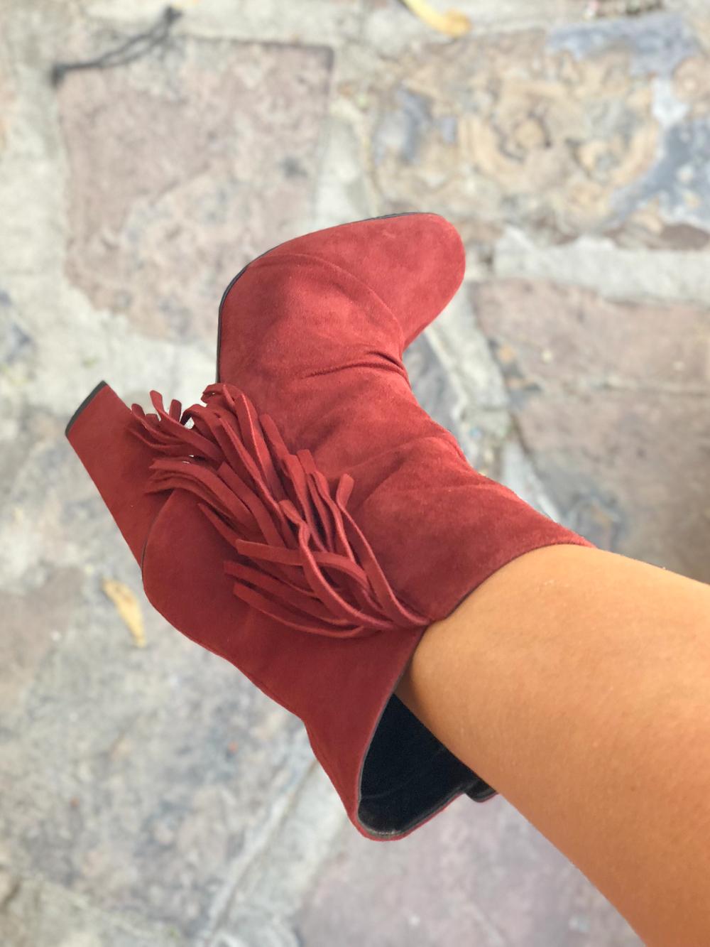 Stiefel in rostrot von Chloé
